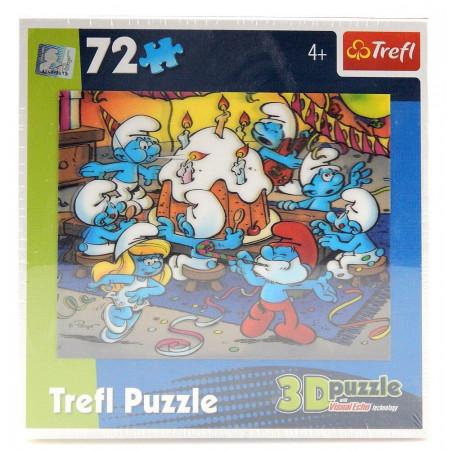 Puzzle 3D Trefl Smerfy Smerfne urodziny 72 elementy