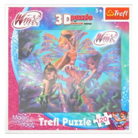 Puzzle Trefl 3D wróżki WinX 120 el.