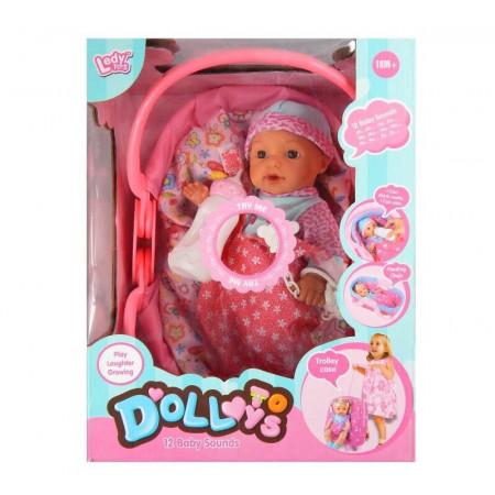 Lalka niemowlak noworodek mała dziewczynka ze smoczkiem PLAYME
