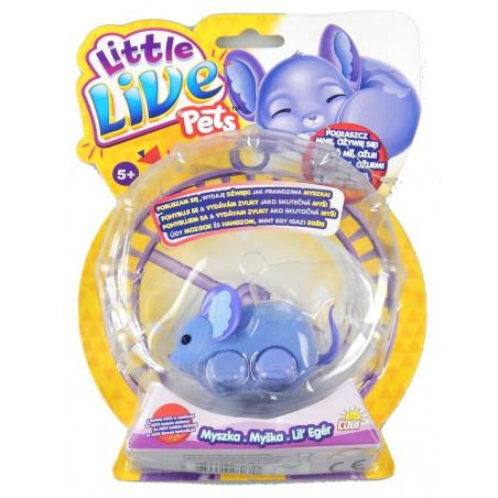 Myszka Ospałek Little Live Pets fioletowy COBI