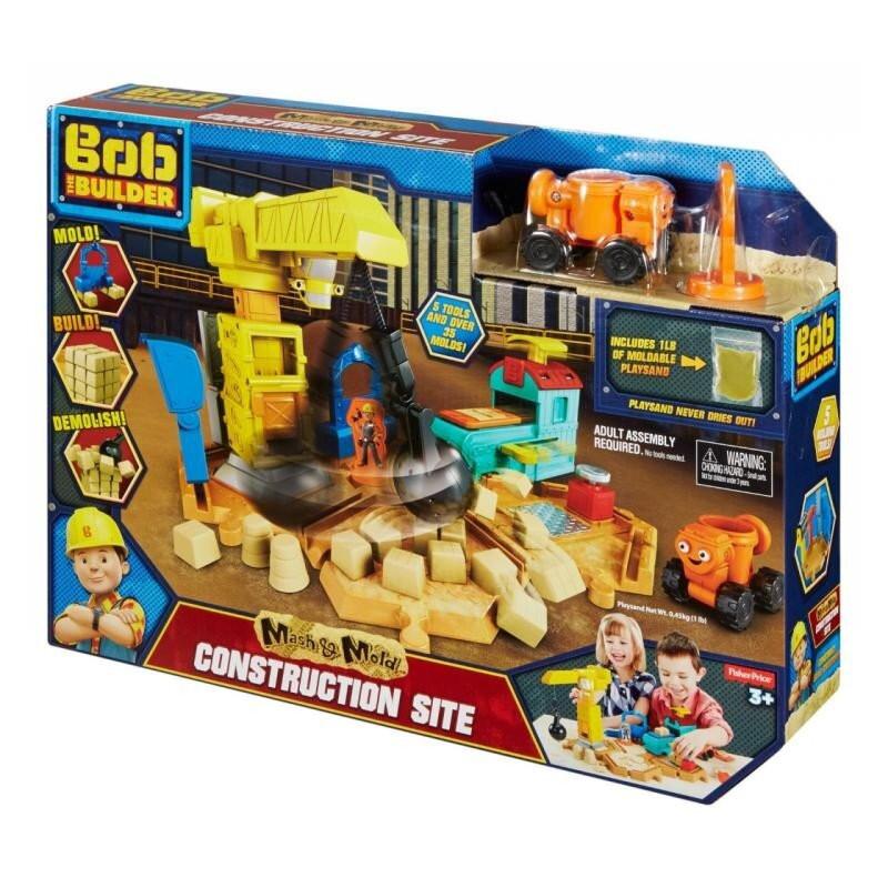 Bob Budowniczy Plac Budowy z piaskiem kinetycznym Fisher Price
