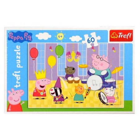 Puzzle Świnka Peppa na balu 60 el. TREFL
