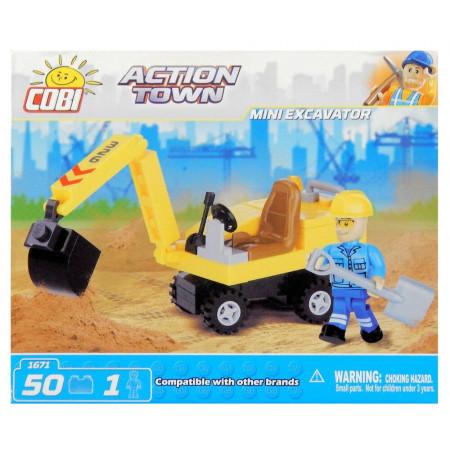 Klocki Cobi Action Town Mini Koparka 50 el.