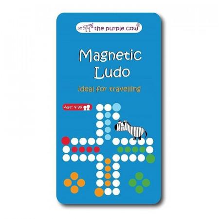 Chińczyk / Ludo - podróżna gra magnetyczna Purple Cow