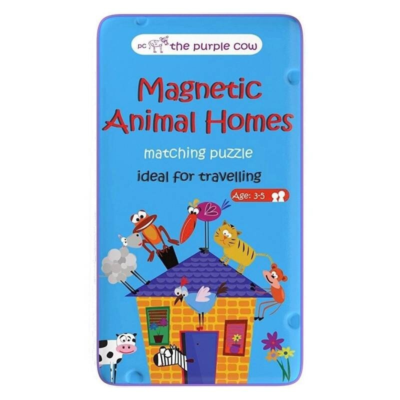 Puzzle Zwierzęta i ich domy - The Purple Cow