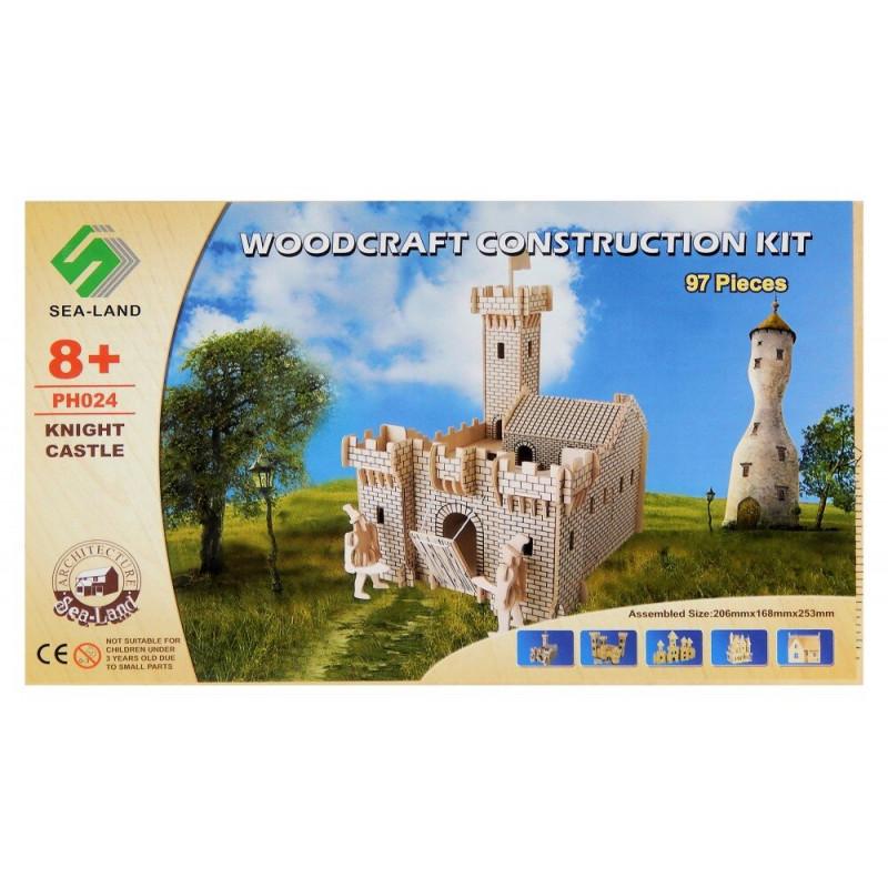 Zamek Rycerza drewniane puzzle 3D przestrzenne