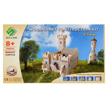 Zamek Rycerski drewniane puzzle 3D przestrzenne