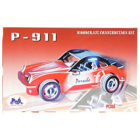 Samochód Porsche drewniane puzzle 3D przestrzenne