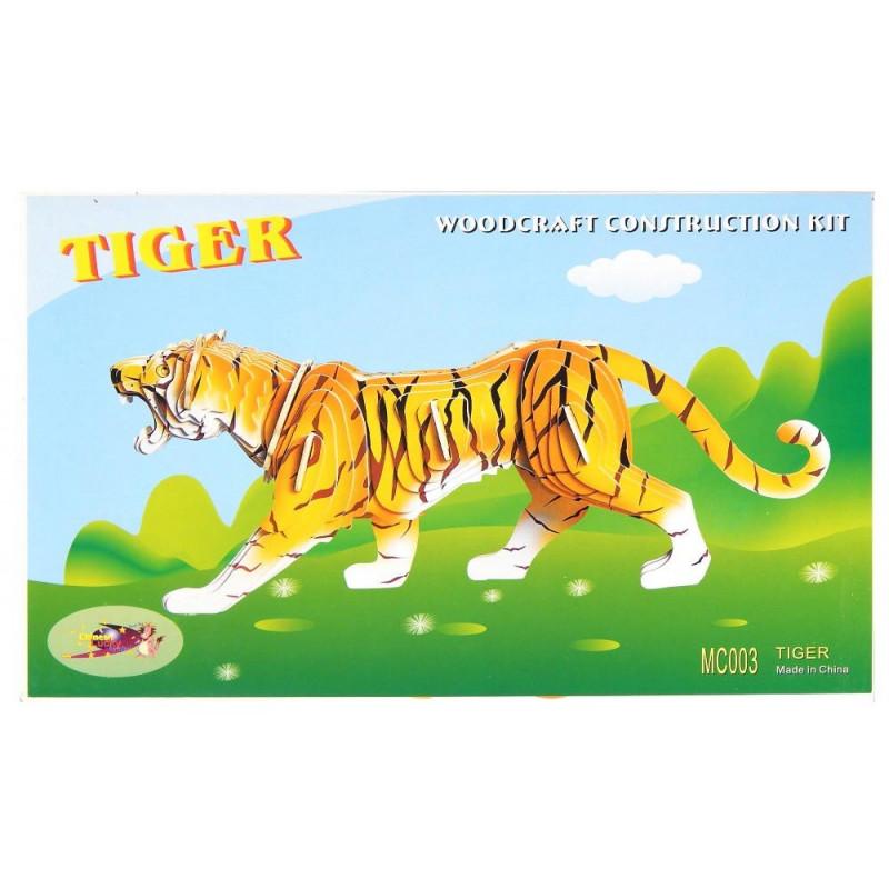 Tygrys drewniane puzzle 3D przestrzenne