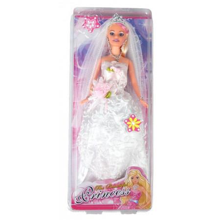 Lalka księżniczka Panna Młoda z welonem i długą suknią ślubną 30 cm