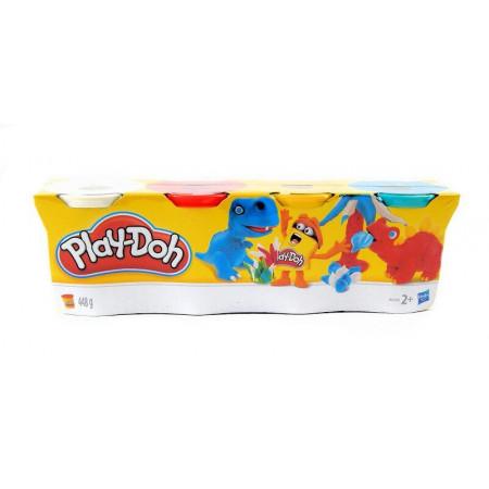 Hasbro Ciastolina Play-Doh 4 Tuby Dinusie