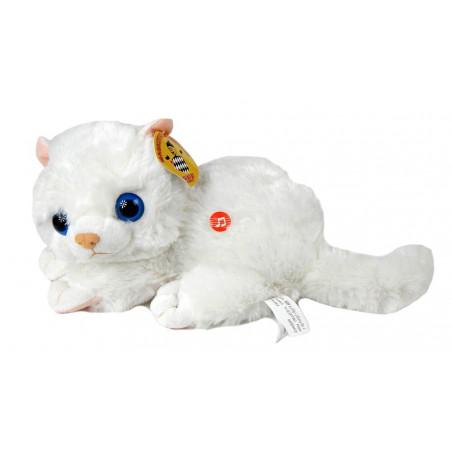 Śliczny Pluszowy biały Kotek maskotka 30 cm