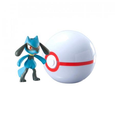 Figurka Pokemon Riolu i Premier Ball TOMY