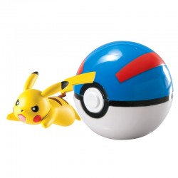 Figurka Pokemon Pikachu i Great Ball TOMY