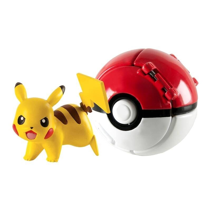 Pokemon Poke Ball Throw 'N' Pop z figurką Pikachu TOMY