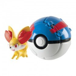 Pokemon Great Ball Throw 'N' Pop z figurką Fennekin TOMY