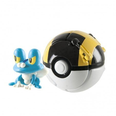 Pokemon Ultra Ball Throw 'N' Pop z figurką Froakie TOMY