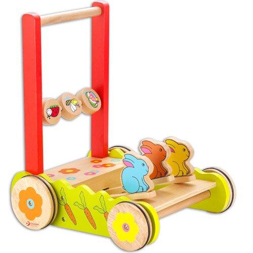 Wózek do pchania z króliczkami Classic World