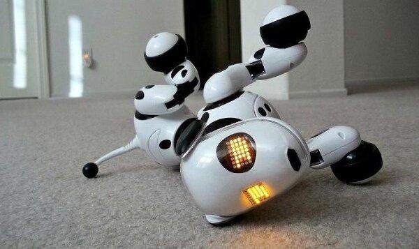 Inteligentny Pies Robot Zoomer na podłodze